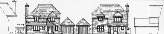 Two new houses, Capel, Surrey
